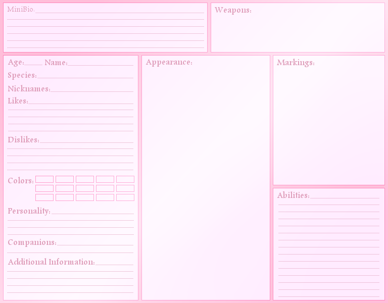 High Quality Blank Character Reference Sheet By AngelMarieTuran ... Idea Blank Reference Sheet
