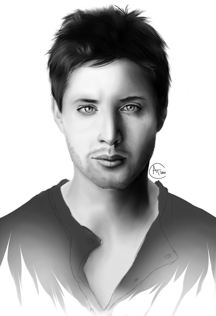 Jensen Ackles Portrait by AngelMarieTuran