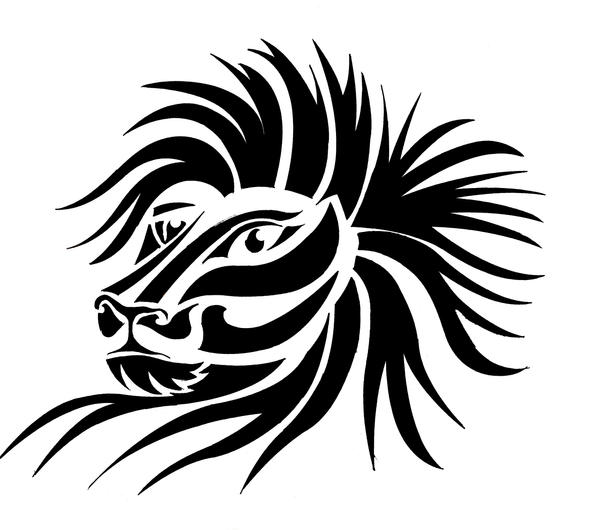 tribal lion tattoo. Tiger and Lion Tribal Tattoo