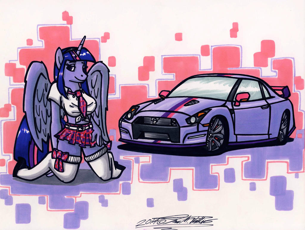 Twilight Sparkle Pin Up by Sketchywolf-13