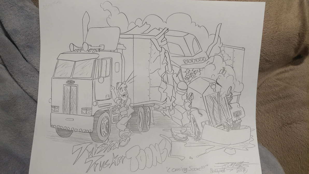 Twisted Trucker Toons by Sketchywolf-13