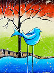 Blue Bird Painting Love Song
