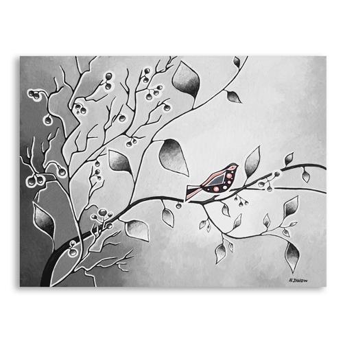 Bird paintings black and white - photo#22