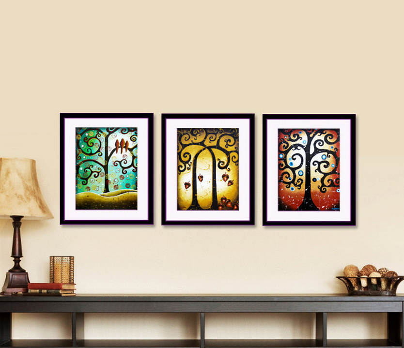 Set of 3 Tree of Life PRINTS Holiday Decor by hjmart