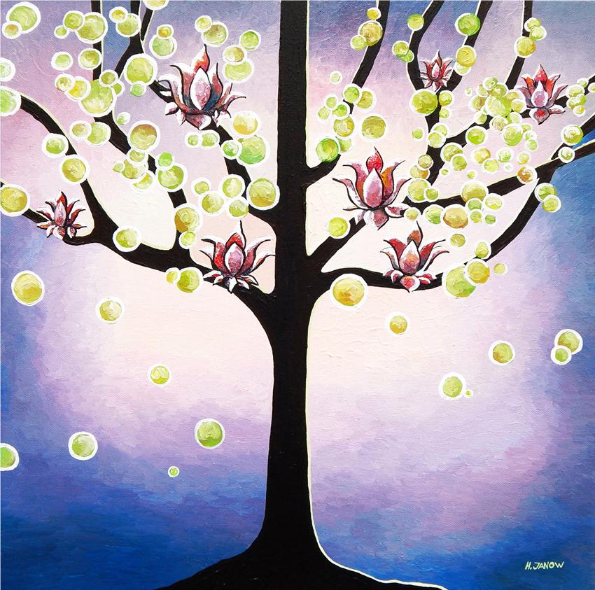 Lotus Flower Tree Of Life Art Lavender Painting By Hjmart On Deviantart