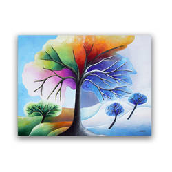 Tree of Life Wall Art Original Landscape Painting by hjmart