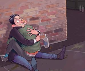 he hug