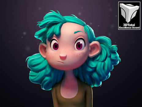 Turquoise Haired Girl