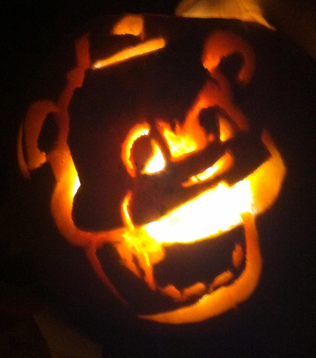 Golden freddy pumpkin by neomi trix on deviantart
