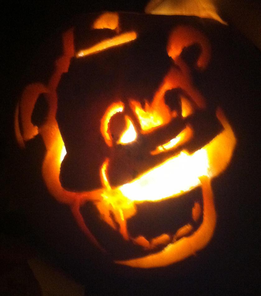 Golden Freddy Pumpkin~ by NEOmi-triX