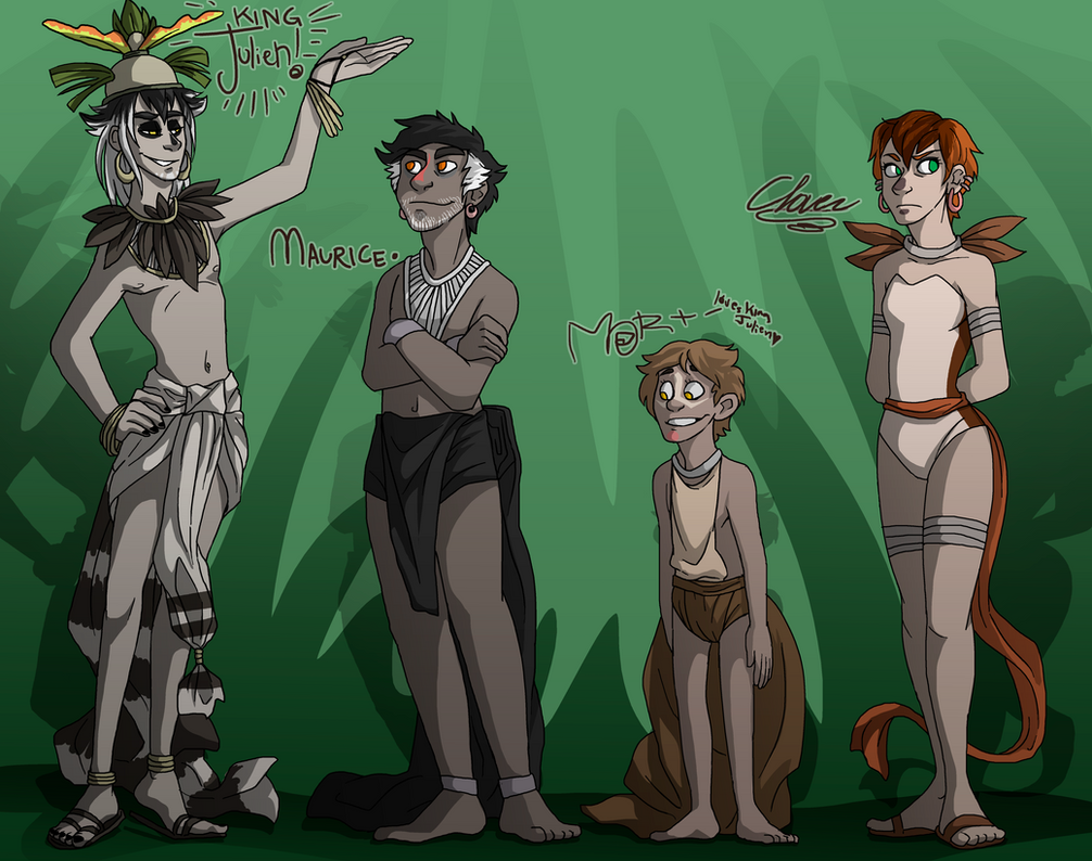 King Julien and Some Other People by NEOmi-triX
