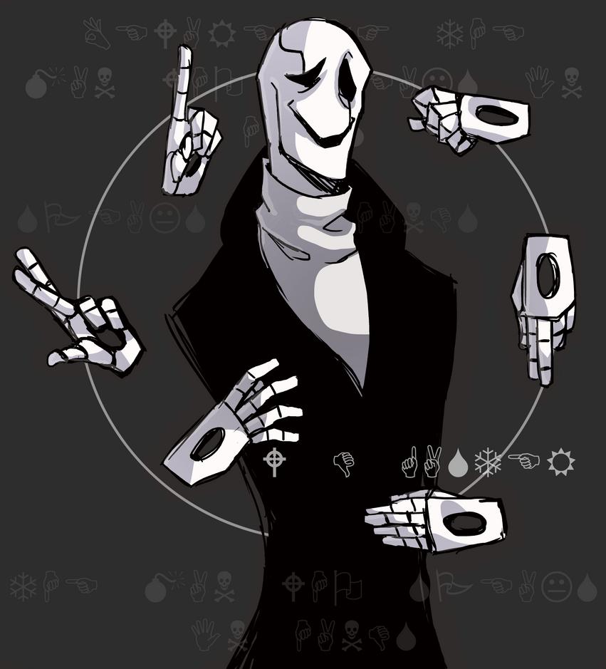 W.D.Gaster being controlled by VampirePrinceLoki on DeviantArt