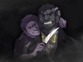 Nightmare and Purple Guy