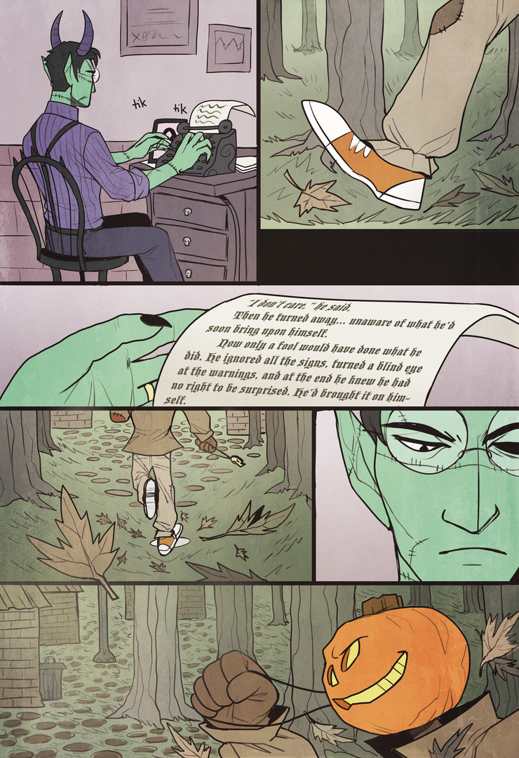 Ghoulsdale - short comic - page 1