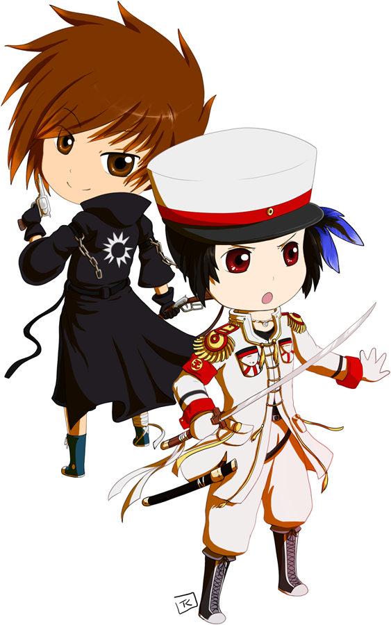 Matthew and Kaejung, chibi revival by Zaleho