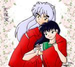 Inuyasha abraza a Kagome n_n