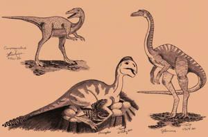 Three Dinosaurs by Elentarri