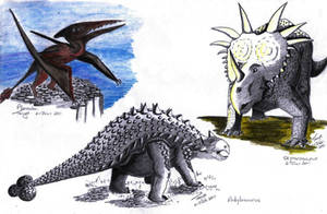 Three More Dinosaurs by Elentarri
