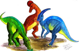 Why Hadrosaurs are Extinct by Elentarri