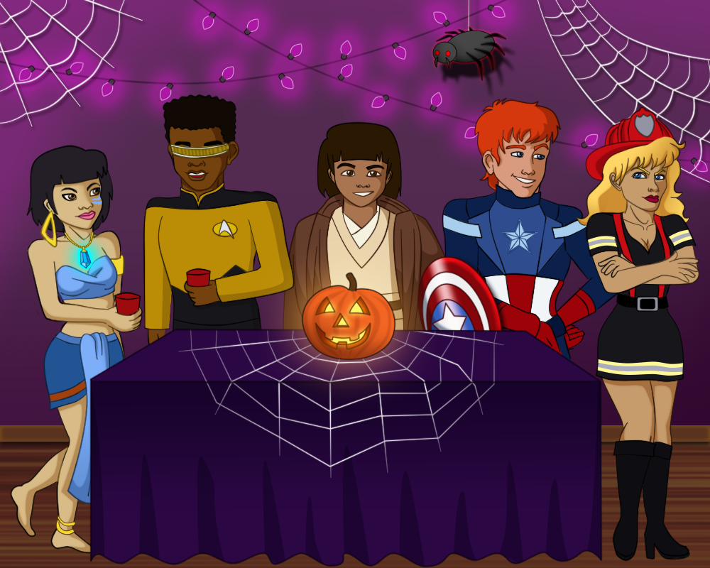 Planeteer Halloween Party by FrankieAlton