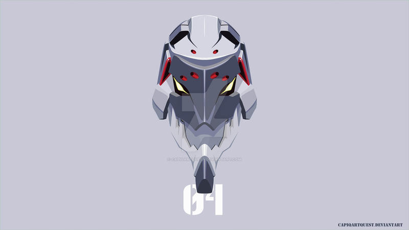 Evangelion Unit 04 Head Wallpaper by CapiqArtQuest
