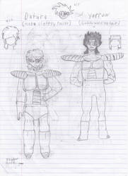 Dragon Ball Double S: Datura and Yarrow by DarkTheRelentless