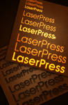 laser-pressed text style