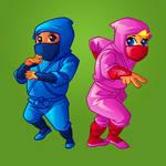 cartoon ninja baby