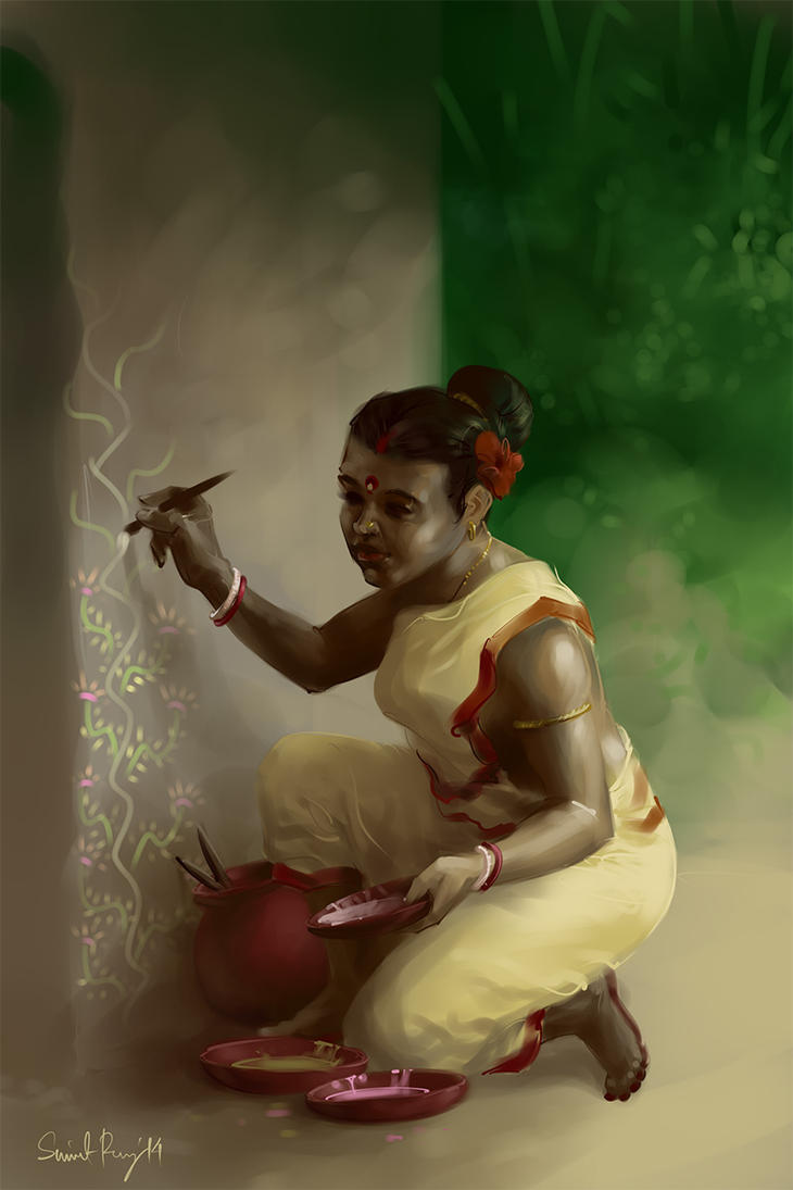 Tribal girl by scorpy-roy