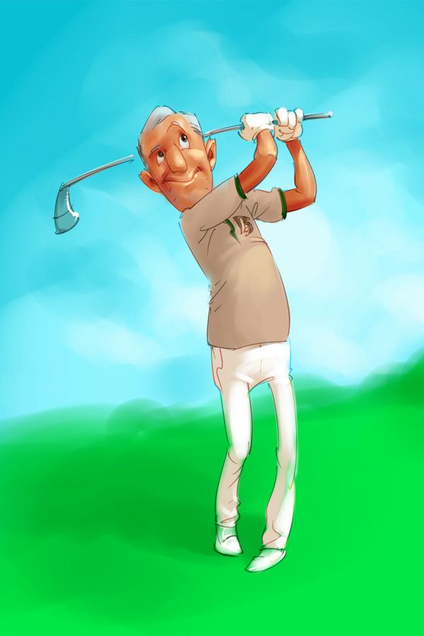 Golfer by scorpy-roy