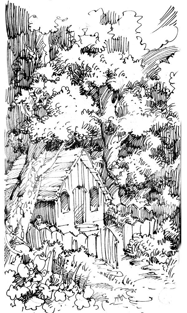 Ink pen sketch by scorpy-roy