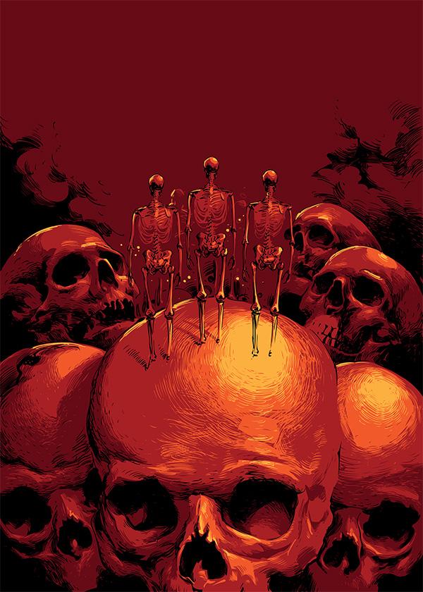 horror magazine cover artwork by scorpy-roy