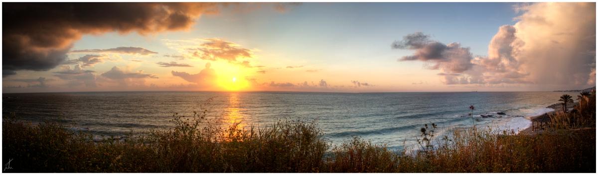 Batroun Beach Panorama by ZeeGrizzly