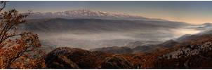 Foggy Autumn Panorama