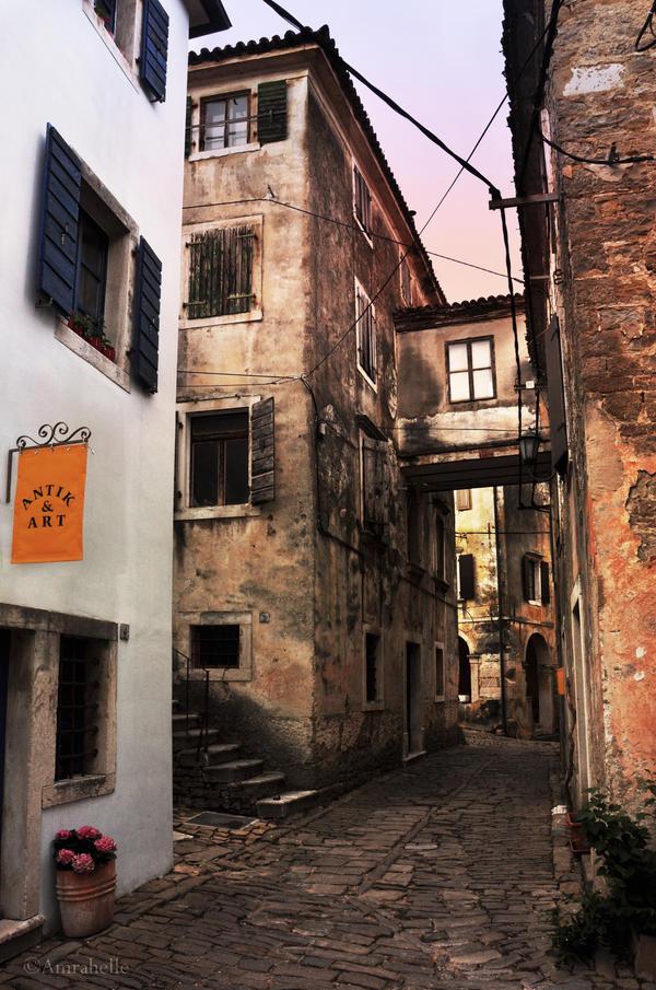 Street in Groznjan by Amrahelle
