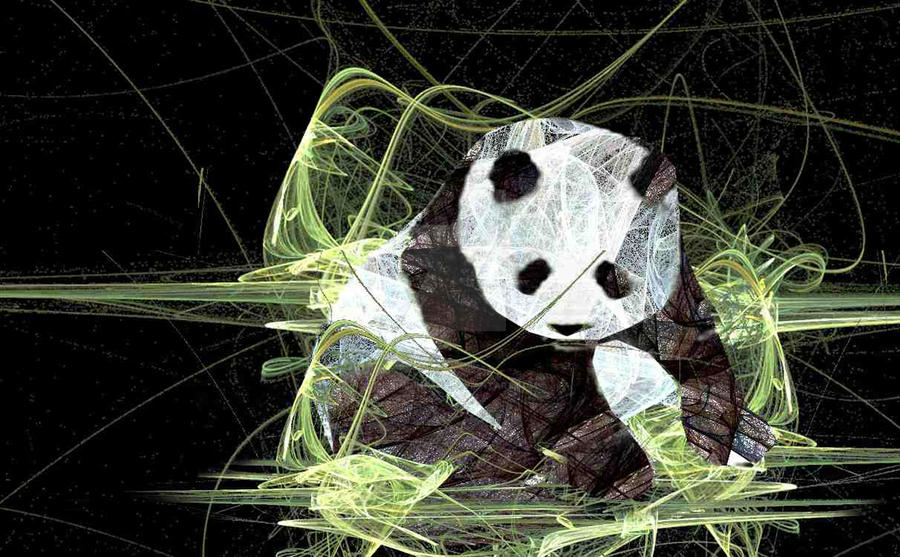 My Fractal Panda by missimoinsane