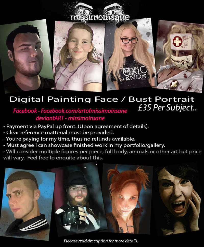 commission digital portrait painting