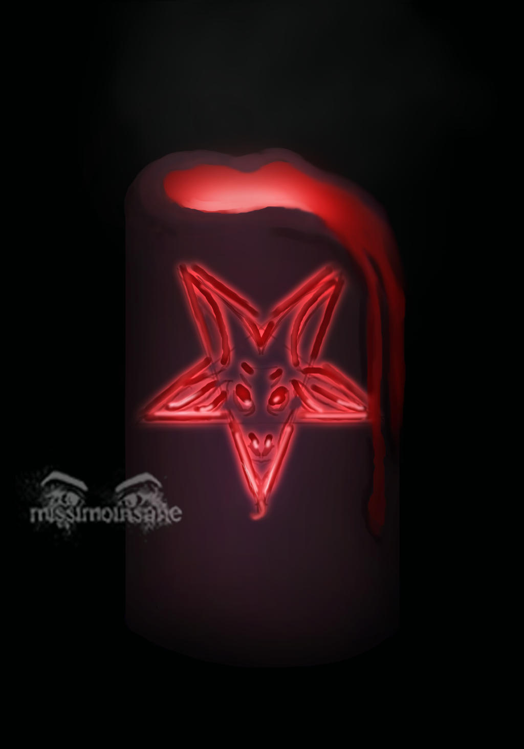 DAILY SPITPAINT No.3 - Dark Flame