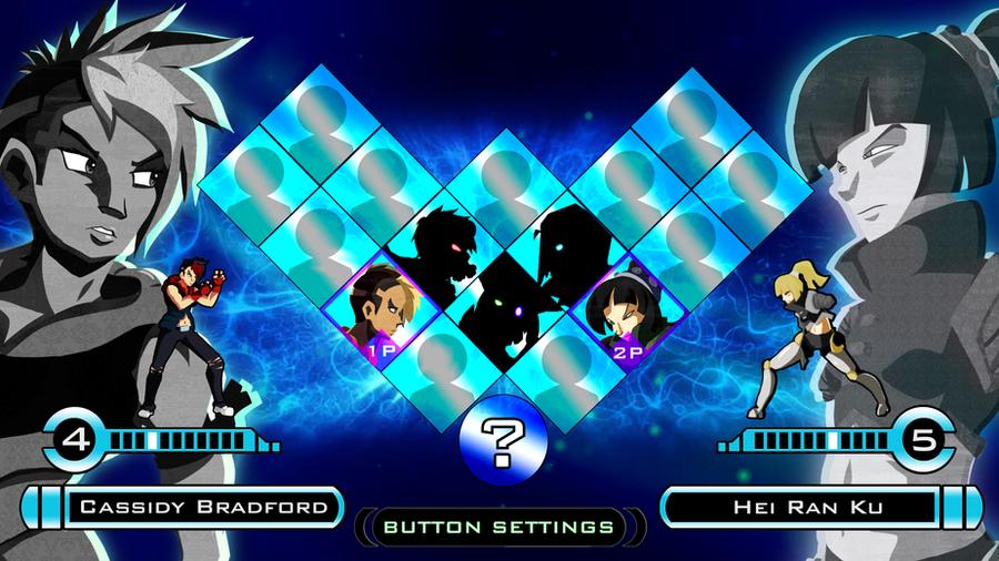 Fighting Game Character Select Screen by NinjaLemon
