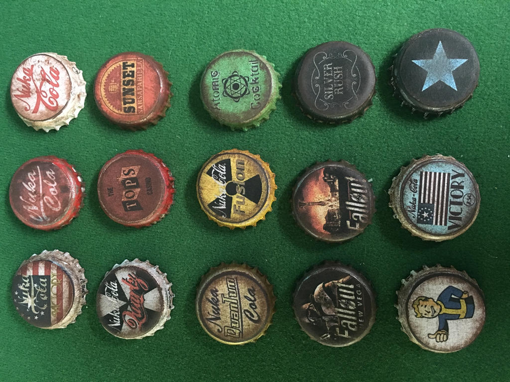 how to make fallout bottle caps