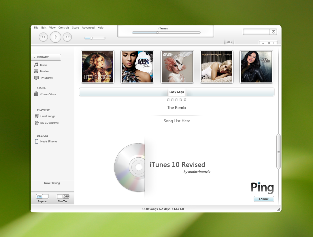 iTune 10 Revised Concept by minhtrimatrix