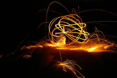 Trick Photography - Steel Wool 2 by winchesterstudios