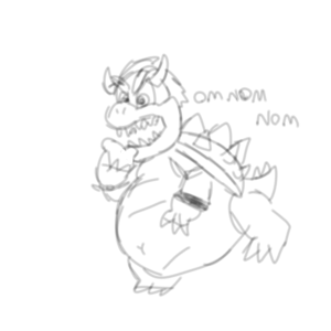 fat bowser by MarioFetish
