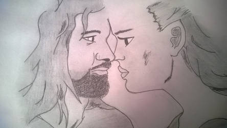 Aragorn and Arwen by Gizmo250