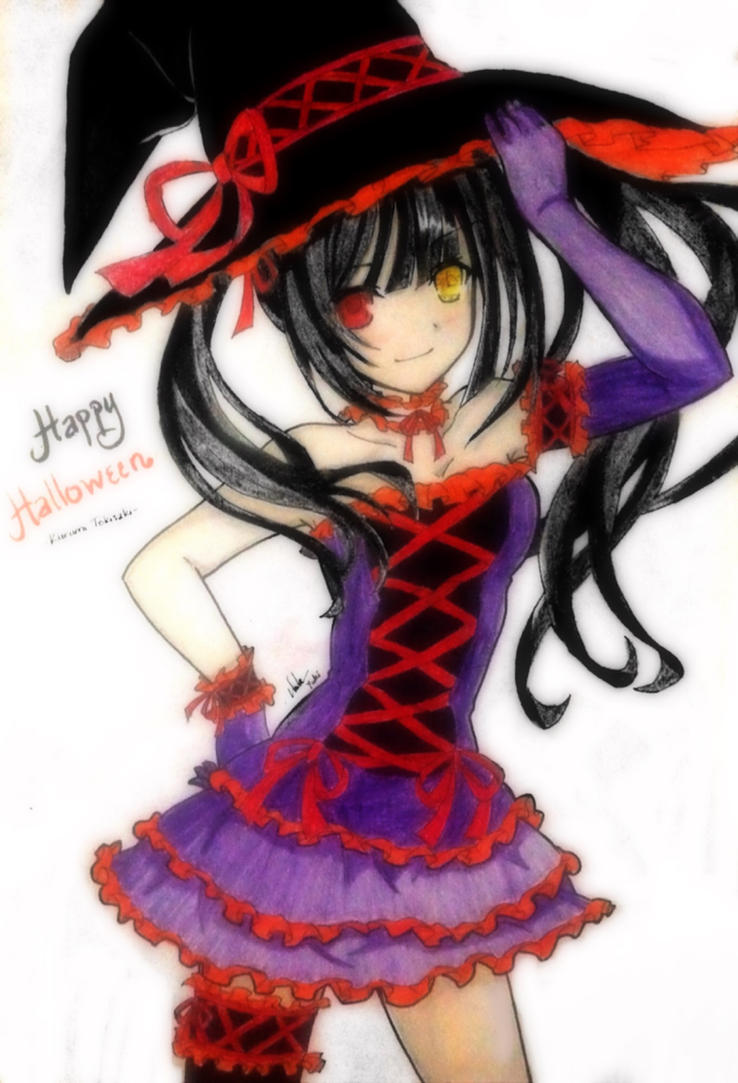 date a live kurumi tokisaki halloween by. Black Bedroom Furniture Sets. Home Design Ideas