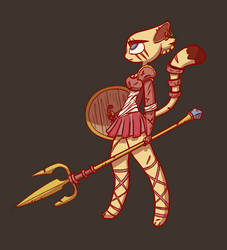 Gladiator Cat Girl by Verminohz