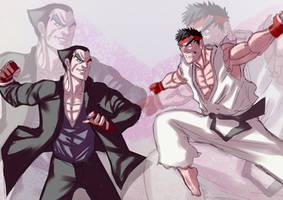 Ryu VS Kazuya by Ulics