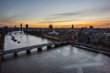 West Minster sun set by DegsyJonesPhoto