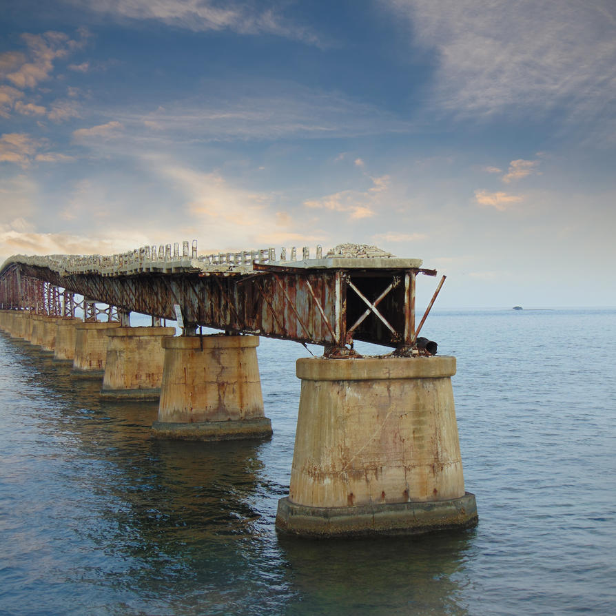 The Florida Keys - Broken Bridge by Infected-Beats