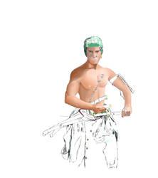 Wip digital painting of zoro